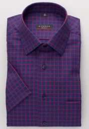 ETERNA SHIRT MODERN FIT TWILL RED/BLUE CHECKED