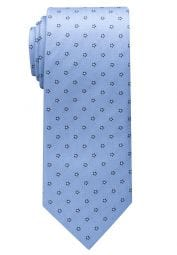 ETERNA TIE LIGHT BLUE / NAVY BLUE PATTERNED