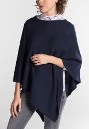 ETERNA KNIT PONCHO NAVY BLUE UNI