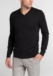 ETERNA KNIT SWEATER WITH V-NECK ANTHRACITE UNI