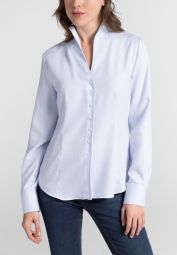 ETERNA LONG SLEEVE BLOUSE MODERN CLASSIC FLANELL LIGHTLBLUE UNI
