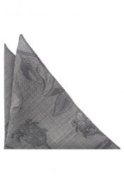 ETERNA POCKET SQUARE GRAY PATTERNED