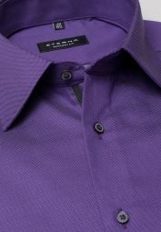 ETERNA LONG SLEEVE SHIRT COMFORT FIT FANCY WEAVE PURPLE STRUCTURED