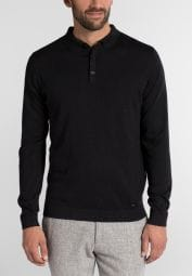 ETERNA KNIT SWEATER MODERN FIT WITH POLO NECK BLACK UNI