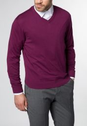 ETERNA KNIT SWEATER WITH V-NECK LILAC UNI