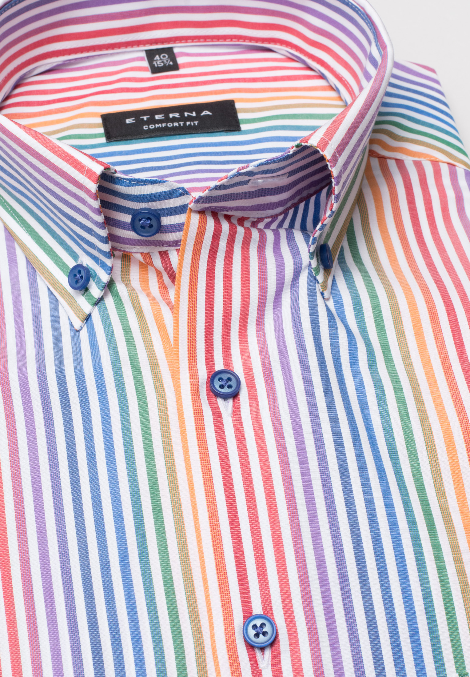 0500d8a33 eterna half sleeve shirt comfort fit poplin colorful striped