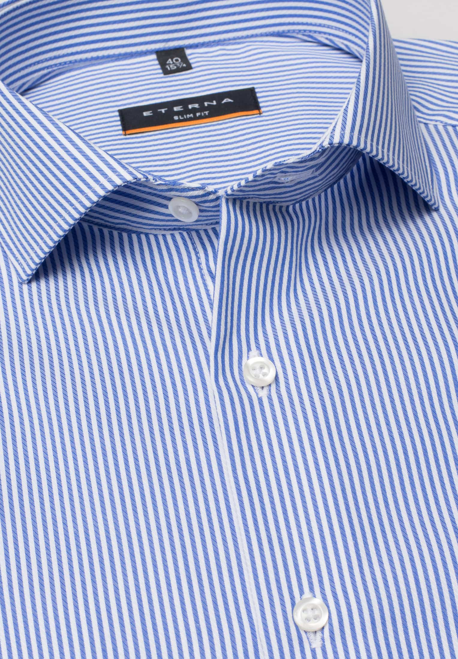38e6c871ddf2 ETERNA LONG SLEEVE SHIRT SLIM FIT TWILL LIGHT BLUE / WHITE STRIPED. Order  number: 8992_16F482_67_43. Previous