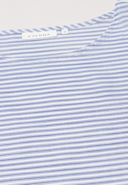 ETERNA WITHOUT SLEEVES BLOUSE MODERN CLASSIC BLUE/WHITE STRIPED