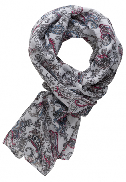 ETERNA SCARF RED PATTERNED