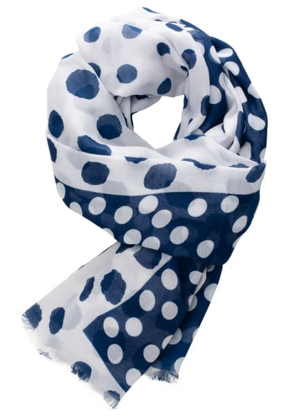 ETERNA SCARF NAVY / WHITE SPOTTED