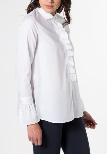 LONG SLEEVE BLOUSE 1863 BY ETERNA - PREMIUM WHITE UNI