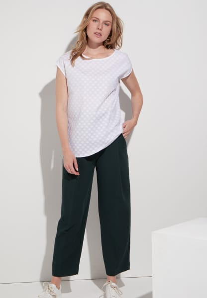 ETERNA WITHOUT SLEEVES BLOUSE MODERN CLASSIC FIL COUPÉ WHITE UNI