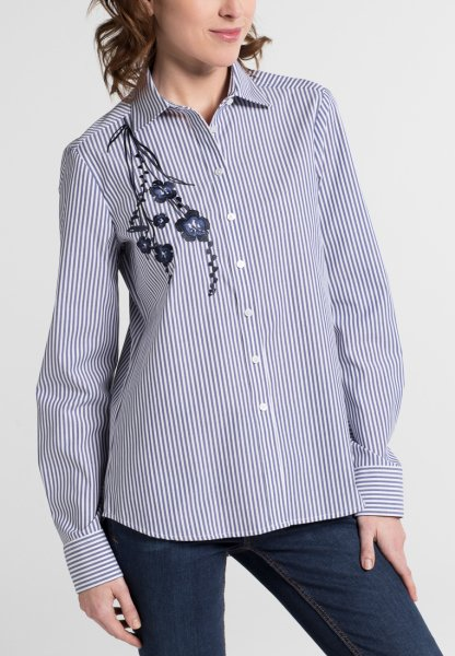 ETERNA LONG SLEEVE BLOUSE MODERN CLASSIC STRIPED