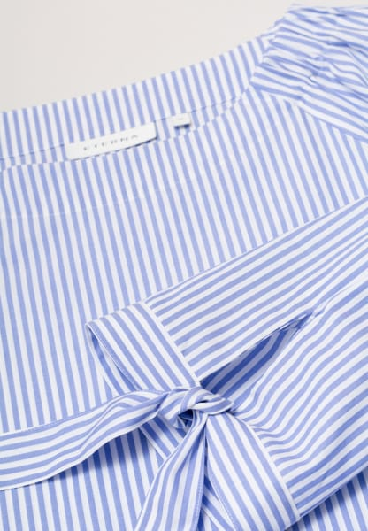 ETERNA 3/4 SLEEVE BLOUSE MODERN CLASSIC BLUE/WHITE STRIPED