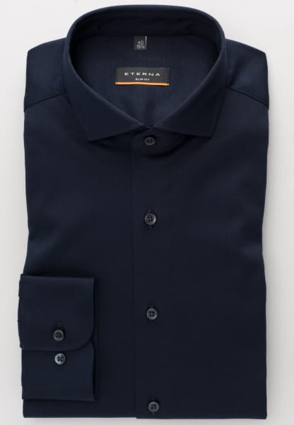 ETERNA LONG SLEEVE SHIRT SLIM FIT JERSEY NAVY UNI