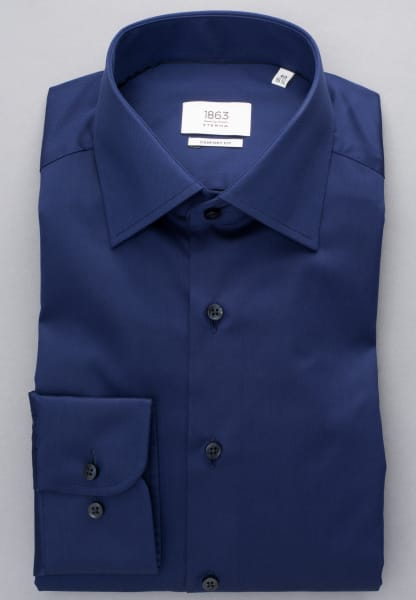 ETERNA LONG SLEEVE SHIRT COMFORT FIT GENTLE SHIRT TWILL NAVY BLUE UNI