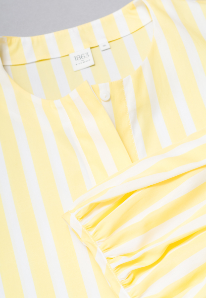 3/4 SLEEVE BLOUSE 1863 BY ETERNA - PREMIUM YELLOW/WHITE STRIPED