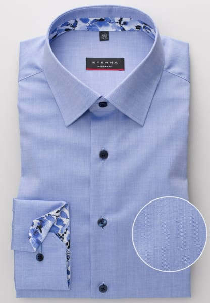ETERNA LONG SLEEVE SHIRT MODERN FIT PINPOINT SKY BLUE UNI