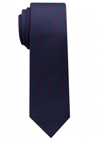 ETERNA TIE NAVY BLUE / RED SPOTTED
