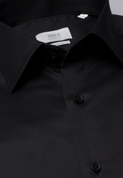 ETERNA LONG SLEEVE SHIRT MODERN FIT GENTLE SHIRT TWILL BLACK UNI