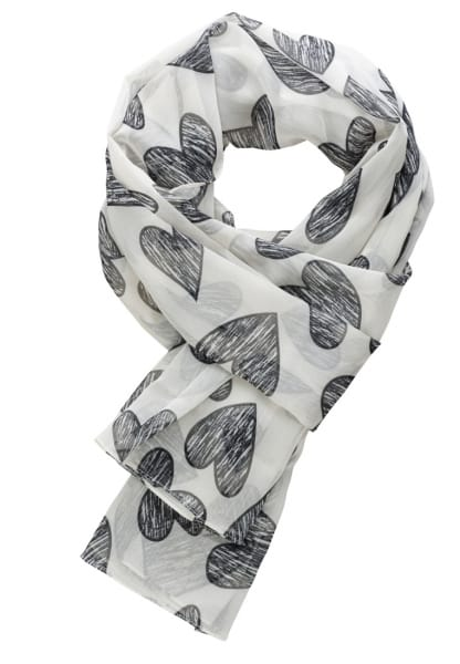 ETERNA SCARF OFFWHITE/BLACK PATTERNED