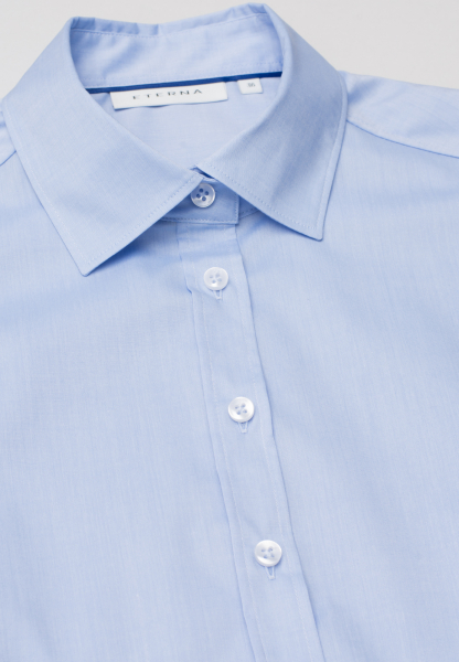 ETERNA WITHOUT SLEEVES BLOUSE MODERN CLASSIC STRETCH LIGHT BLUE UNI