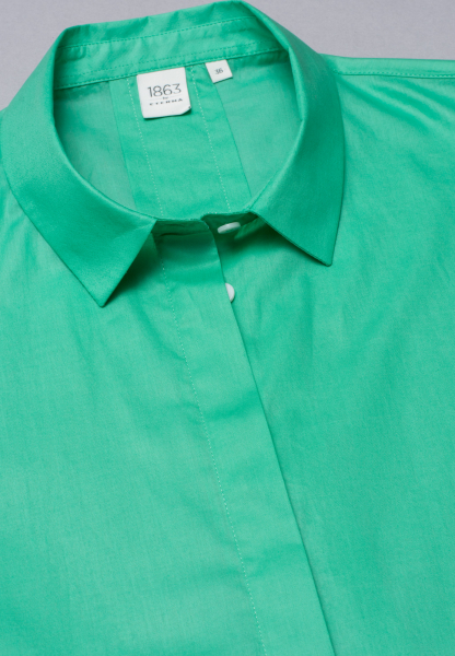 WITHOUT SLEEVES BLOUSE 1863 BY ETERNA - PREMIUM POPLIN MINT GREEN UNI
