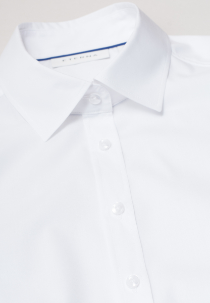ETERNA WITHOUT SLEEVES BLOUSE MODERN CLASSIC STRETCH WHITE UNI