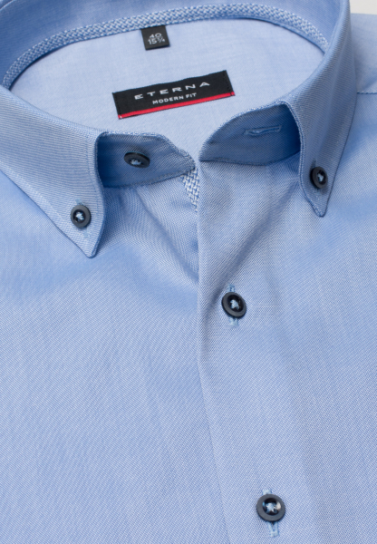 ETERNA HALF SLEEVE SHIRT MODERN FIT OXFORD LIGHT BLUE UNI