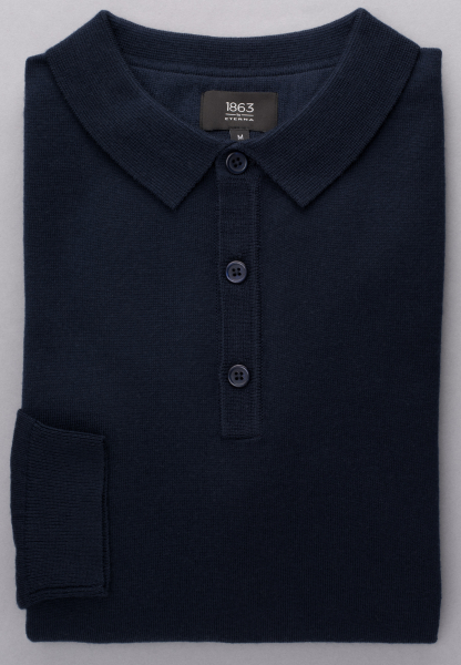 ETERNA KNIT SWEATER WITH POLO NECK NAVY BLUE UNI