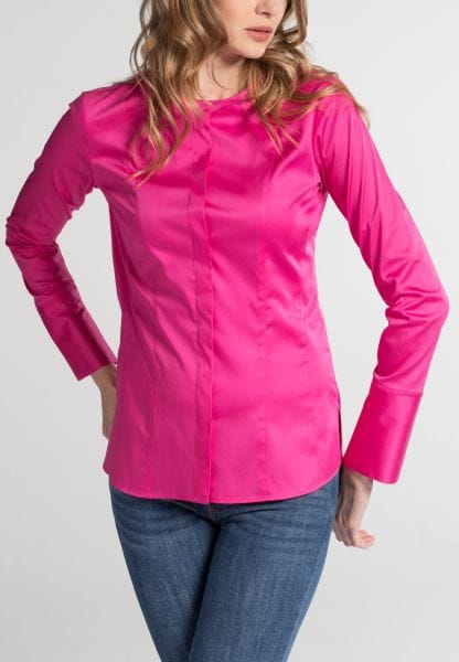 ETERNA LONG SLEEVE BLOUSE SLIM FIT PINK UNI