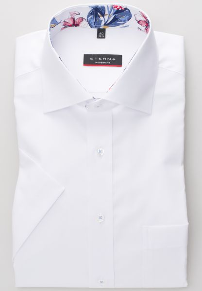 ETERNA HALF SLEEVE SHIRT MODERN FIT PINPOINT WHITE UNI