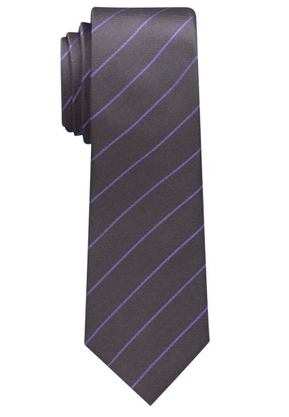 ETERNA TIE SILVER GRAY / LILAC STRIPED