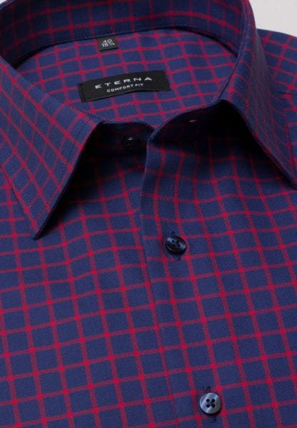 ETERNA SHIRT COMFORT FIT TWILL RED/BLUE CHECKED
