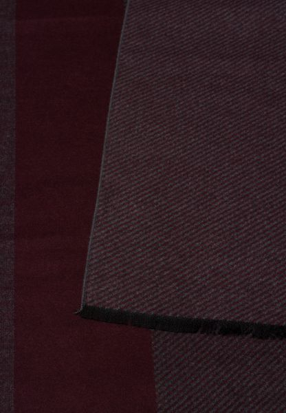 ETERNA SCARF BURGUNDY / GRAY STRIPED