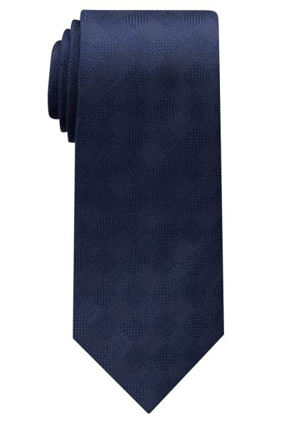 ETERNA TIE NAVY BLUE CHECKED
