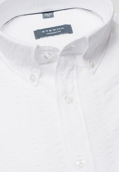 ETERNA HALF SLEEVE SHIRT COMFORT FIT POPELINE WHITE UNI