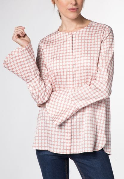 LONG SLEEVE BLOUSE 1863 BY ETERNA - PREMIUM ROSE / BLANC PRINTED
