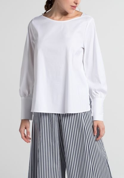 LONG SLEEVE BLOUSE 1863 BY ETERNA - PREMIUM STRETCH WHITE UNI