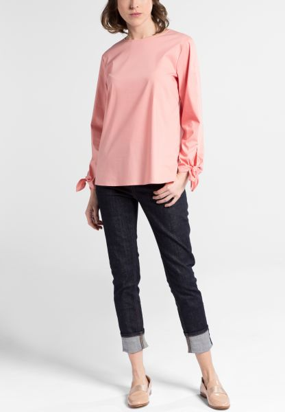 LONG SLEEVE BLOUSE 1863 BY ETERNA - PREMIUM STRETCH PEACH UNI