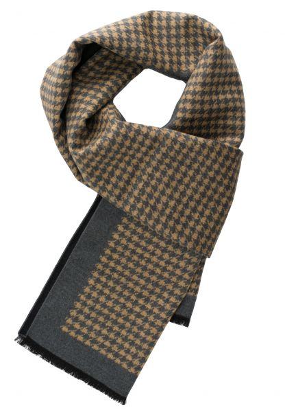 ETERNA SCARF DARK GRAY / BEIGE PATTERNED