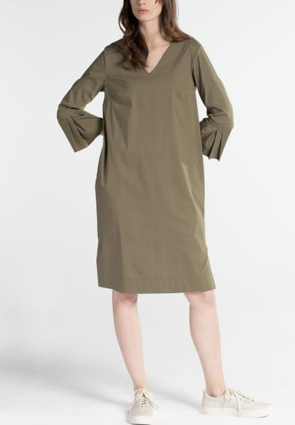 3/4 SLEEVE SHIRTDRESS 1863 BY ETERNA - PREMIUM STRETCH KHAKI UNI