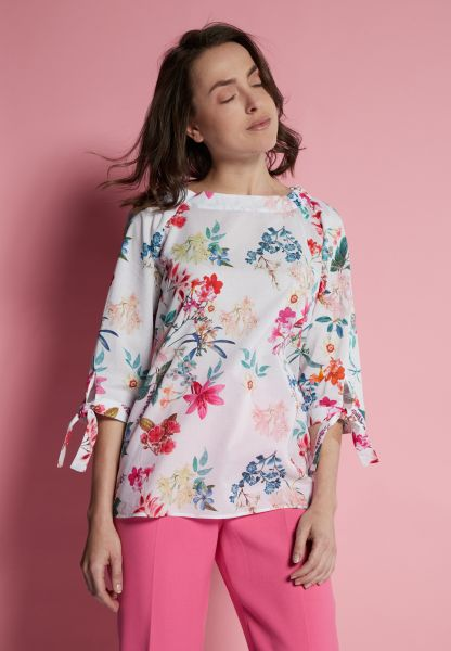 ETERNA 3/4 SLEEVE BLOUSE MODERN CLASSIC POPLIN COLORFUL PRINTED