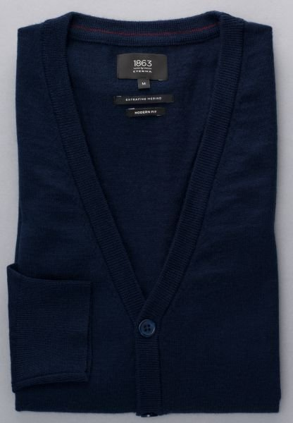 ETERNA KNIT CARDIGAN MODERN FIT NAVY BLUE UNI