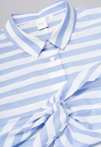3/4 SLEEVE BLOUSE 1863 BY ETERNA - PREMIUM LIGHT BLUE / WHITE STRIPED