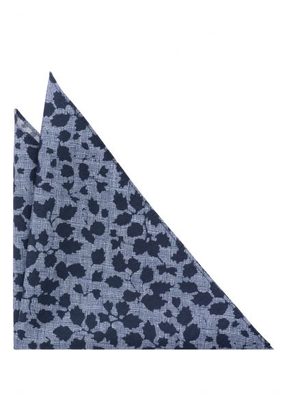 ETERNA POCKET SQUARE NAVY BLUE PATTERNED