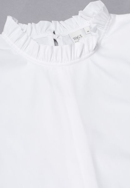 WITHOUT SLEEVES BLOUSE 1863 BY ETERNA - PREMIUM STRETCH WHITE UNI