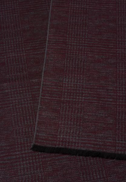 ETERNA SCARF BURGUNDY / LIGHT GRAY CHECKED