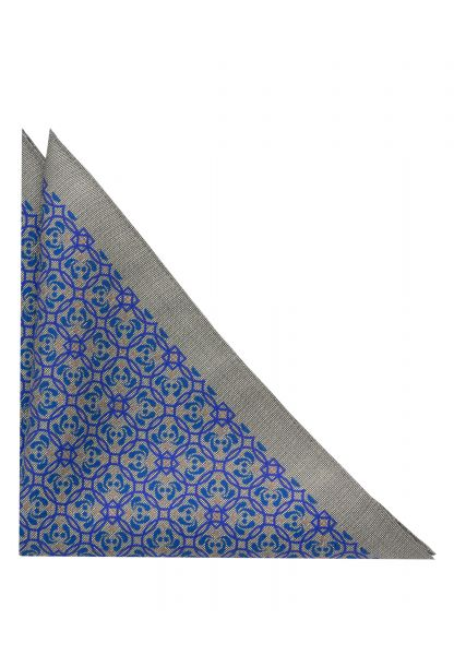 ETERNA POCKET SQUARE BLUE PRINTED