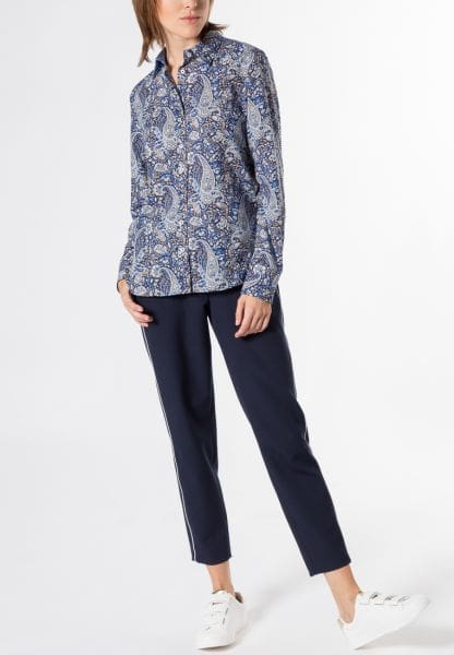 ETERNA LONG SLEEVE BLOUSE MODERN CLASSIC BLUE PRINTED